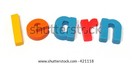 ABC letters Learn - stock photo