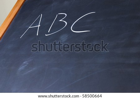 ABC on blackboard