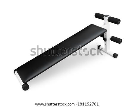 Abdominal Exercise Equipment isolated on white background - stock photo