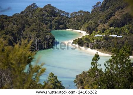Abel Tasman in New Zealand - stock photo