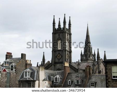 Aberdeen Rooftops - stock photo