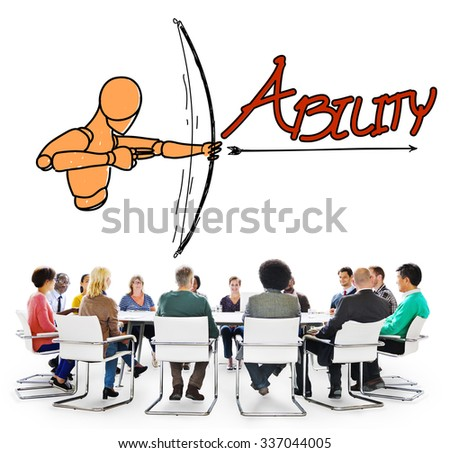 Ability Talent Strength Archery Aim Concept - stock photo