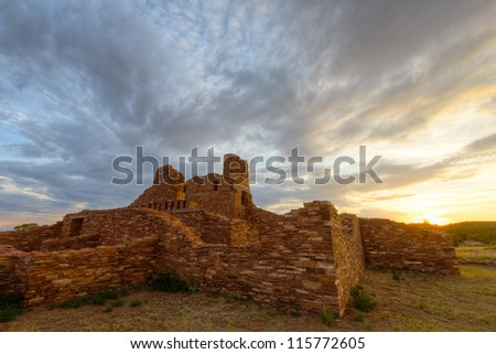 Abo Ruins in Salinas Pueblo National Monument - stock photo