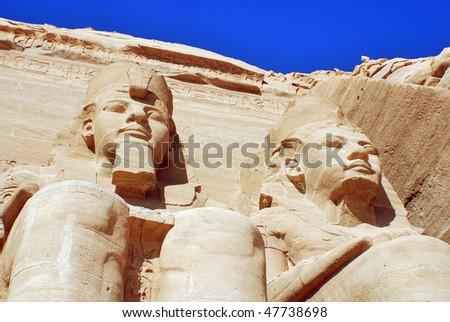 Abou Simbel Egypt - stock photo