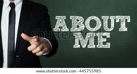 About Me - stock photo