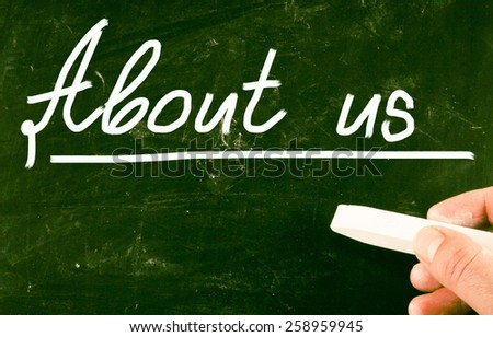 about us concept - stock photo