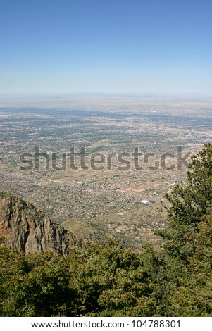 Above Albuquerque - stock photo