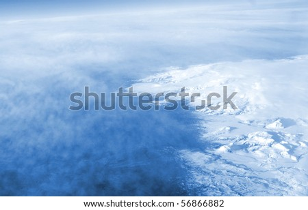 above clouds - stock photo