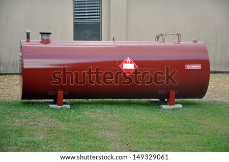 Above Ground fuel tank holding diesel fuel - stock photo