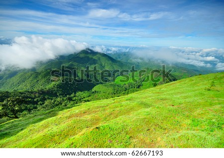 above mountain,Thailand - stock photo