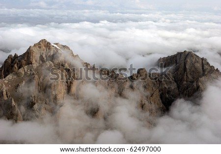 Above the clouds - stock photo