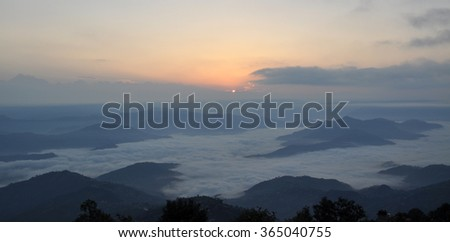 Above the clouds in Nepal