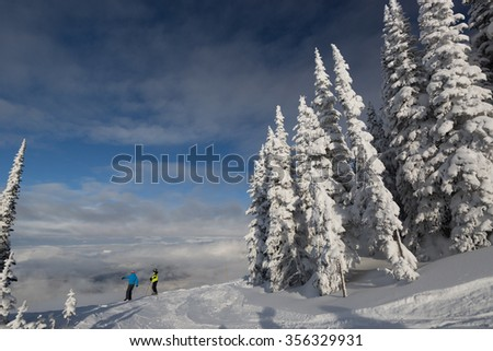 Above the clouds - skiing at Revelstoke, British Columbia