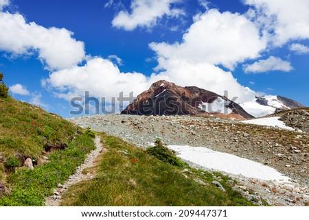 Above Tree-line Mountain Landscape - stock photo
