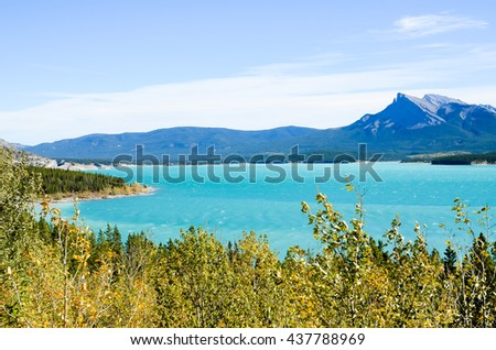 Abraham Lake in Autumn, Canadian Rockies