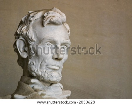 Abraham Lincoln, Head View - stock photo