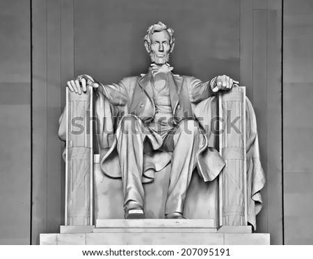 Abraham Lincoln illustration - stock photo