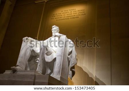 Abraham Lincoln Memorial at Night - stock photo