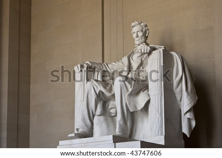 Abraham Lincoln Memorial in Washington DC United States - stock photo