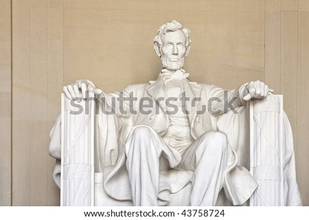 Abraham Lincoln Memorial in Washington DC United States