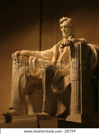 Abraham Lincoln Memorial, Washington D.C. - stock photo