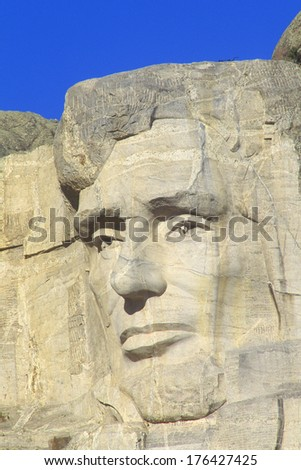 Abraham Lincoln, Mount Rushmore National Monument Near Rapid City, South Dakota