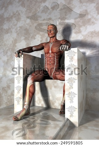 abraham lincoln musculatura - stock photo