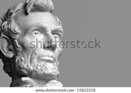 Abraham Lincoln, the sixteenth President of the United States. - stock photo