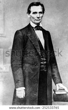 Abraham Lincoln (1809-1865), U.S. President (1861-1865), circa 1840s. - stock photo