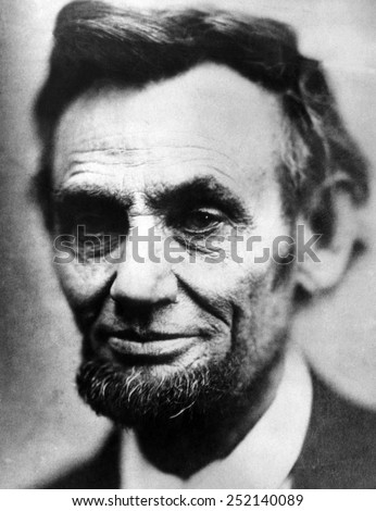Abraham Lincoln (1809-1865), U.S. President (1861-1865), The last photograph of Lincoln. Made by Alexander Gardner, April 9, 1865. - stock photo