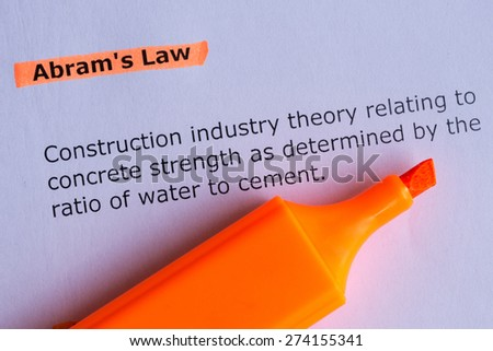 abram's law word highlighted on the white paper