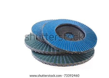 Abrasive disks for grinder isolated on white