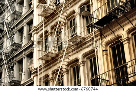 Abrstract New York architecture view - stock photo