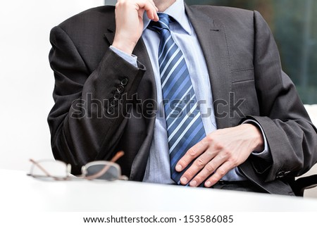 Absolute office evaluation of the demanding boss - stock photo