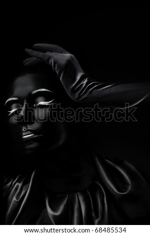 Absolutely black - stock photo