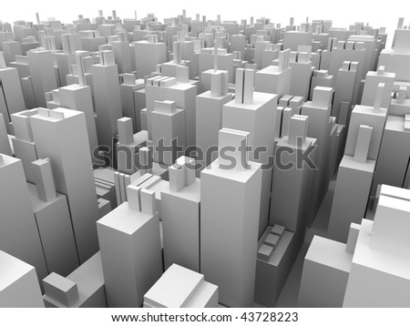 Abstact background from boxes. 3d - stock photo