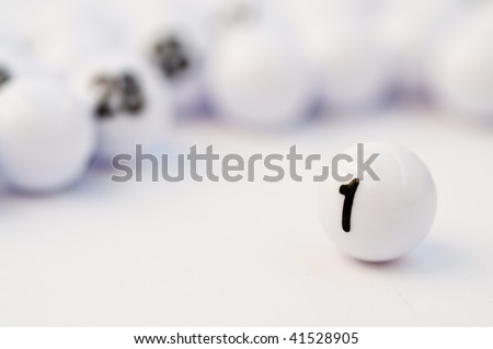 Abstact idea for winning with bingo balls - stock photo