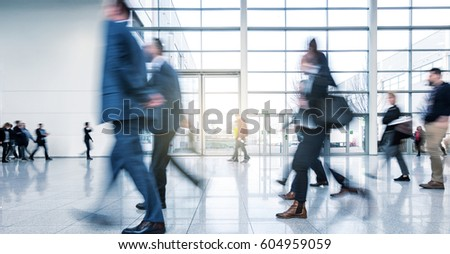 abstakt image of Business people walking in the lobby