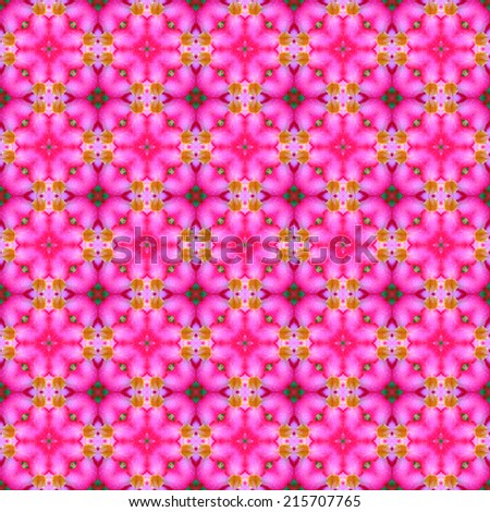 Abstrack background seamless pattern ,created technique from flower  - stock photo