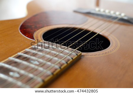 abstract acoustic guitar, antiques, collectibles