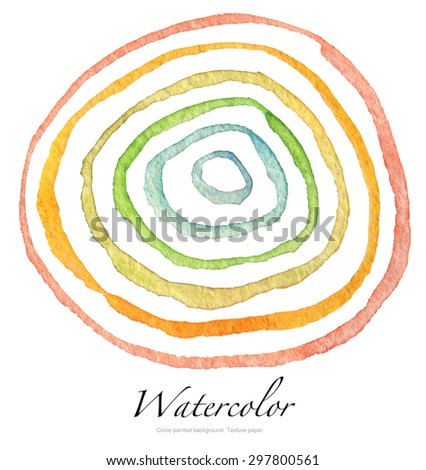 Abstract acrylic and watercolor circle painted background. Texture paper. - stock photo
