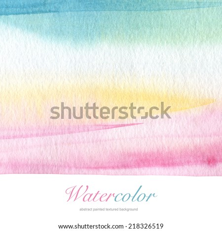 Abstract acrylic and watercolor painted background. Paper textured. - stock photo