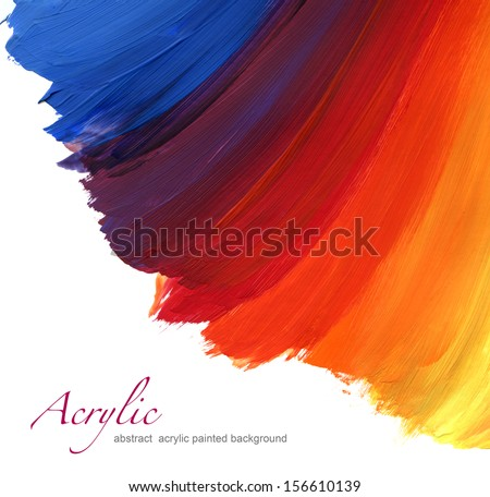 Abstract acrylic hand painted background - stock photo