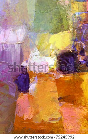 abstract acrylic paint background - stock photo