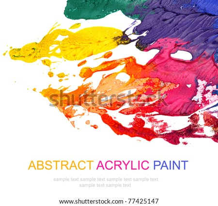 Abstract acrylic painted background - stock photo