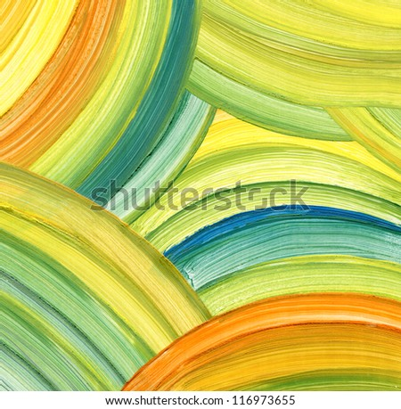 Abstract acrylic painting background - stock photo