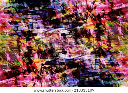 Abstract aggressive background with red, green and blue color, similar to an old poster - stock photo