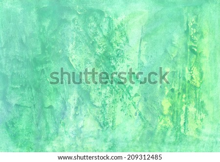 Abstract aguarelle grunge  green  background  for scrapbooking and other  design - stock photo