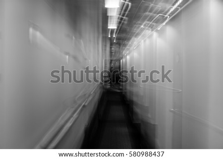 abstract aisle