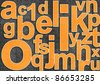 Abstract alphabet image with letter mix - stock photo